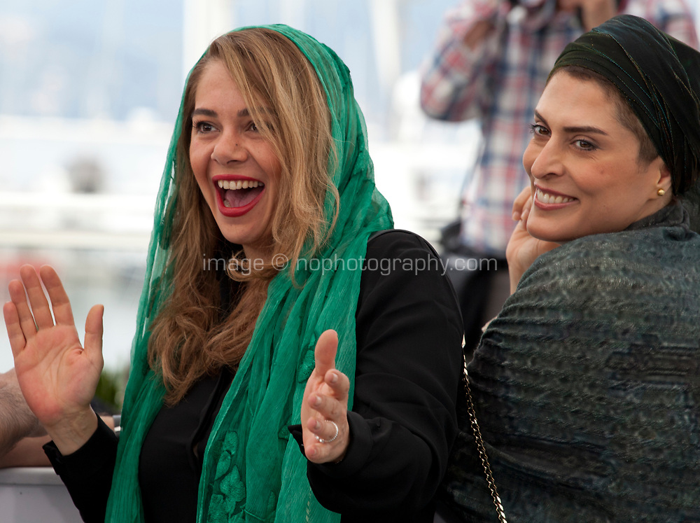 Editor Mastaneh Mohajer and actress Benhaz Jafari at the Three Faces (3 Visages / Se Rokh) film photo call at the 71st Cannes Film Festival, Sunday 13th May 2018, Cannes, France. Photo credit: Doreen Kennedy