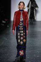 Viktoria Kvalsvik walks the runway wearing Vivienne Tam Fall 2016 during New York Fashion Week on February 15, 2016
