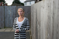 Picture By Jim Wileman  08/11/2012  Tina Nash, pictured at home in Penzance, Cornwall. Tina had her eyes gouged out by her boyfriend.