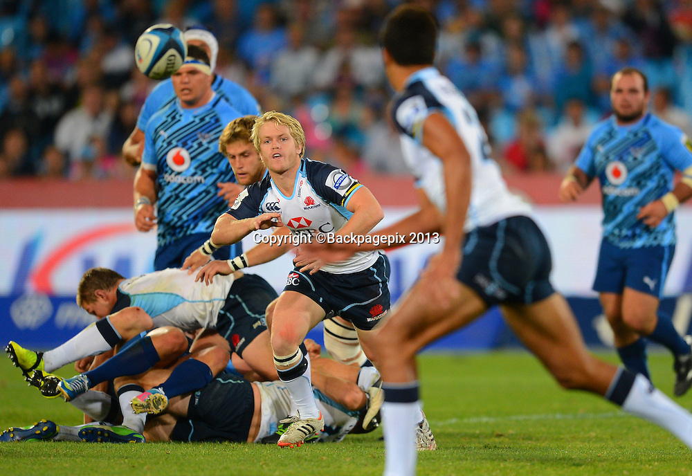 Matt Lucas of the Waratahs during the Super Rugby match between the Bulls and the Waratahs played at Loftus Versfeld in Pretoria on April 27, 2013©Barry Aldworth/BackpagePix