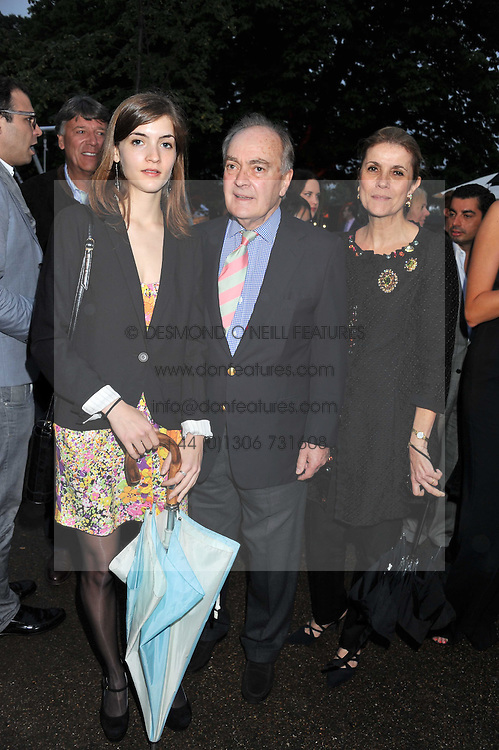 LORD & LADY PALUMBO and their daughter the HON.LANA PALUMBO at the annual Serpentine Gallery Summer Party sponsored by Burberry held at the Serpentine Gallery, Kensington Gardens, London on 28th June 2011.