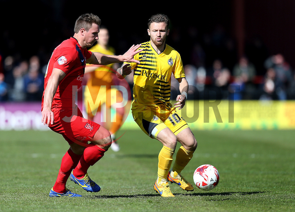 Matt Taylor of Bristol Rovers passes the ball - Mandatory by-line: Robbie Stephenson/JMP - 30/04/2016 - FOOTBALL - Bootham Crescent - York, England - York City v Bristol Rovers - Sky Bet League Two