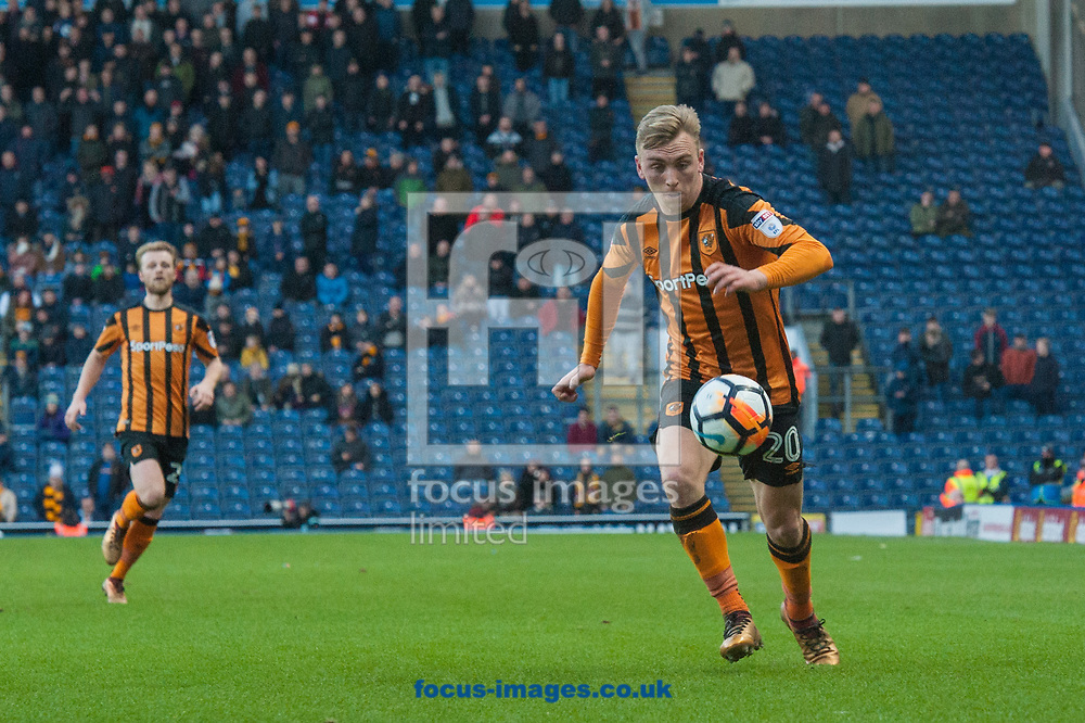 Jarrod Bowen of Hull City brings the ball under control during the FA Cup match at Ewood Park, Blackburn<br /> Picture by Matt Wilkinson/Focus Images Ltd 07814 960751<br /> 06/01/2018