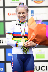 February 3, 2018 - Valkenburg, Pays bas - Richards Evie (GBR) pictured during the podium ceremony after the 2018 UCI Cyclo-Cross World Championships for Women under 23 on February 03, 2018 (Credit Image: © Panoramic via ZUMA Press)