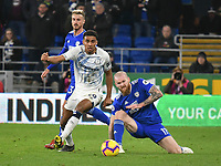Football - 2018 / 2019 Premier League - Cardiff City vs. Everton<br /> <br /> \9\ & Aron Gunnarsson of Cardiff City, at Cardiff City Stadium.<br /> <br /> COLORSPORT/WINSTON BYNORTH