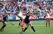 Katie Glynn celebrates a late goal during a Black Sticks Women v England Semi Final match at the Glasgow National Hockey Stadium. Glasgow Commonwealth Games 2014. Friday 1 August 2014. Scotland. Photo: Andrew Cornaga/www.Photosport.co.nz