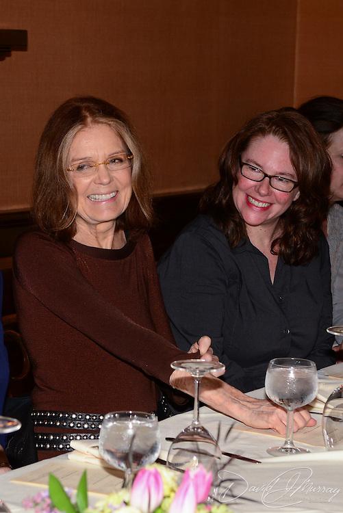 Gloria Steinem Lunch at Rudi's in Portsmouth, NH. Apri 19, 2013