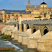 Roman Bridge in C&oacute;rdoba, Spain<br />