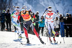 Heidi Weng of Norway, Anna Drvik of Sweden and Katja Visnar of Slovenia during 1.2 km Sprint Classic race at FIS Cross Country World Cup Planica 2016, on January 20, 2018 at Planica, Slovenia. Photo By Morgan Kristan / Sportida