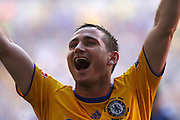 Frank Lampard of Chelsea celebrates beating Everton to win the FA Cup