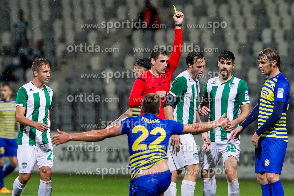 Referre during football match between FC Luka Koper and NK Krsko in 11th Round of Prva liga Telekom Slovenije 2015/16, on September 23, 2015 in Bonifika, Koper, Slovenia. Photo by Urban Urbanc / Sportida
