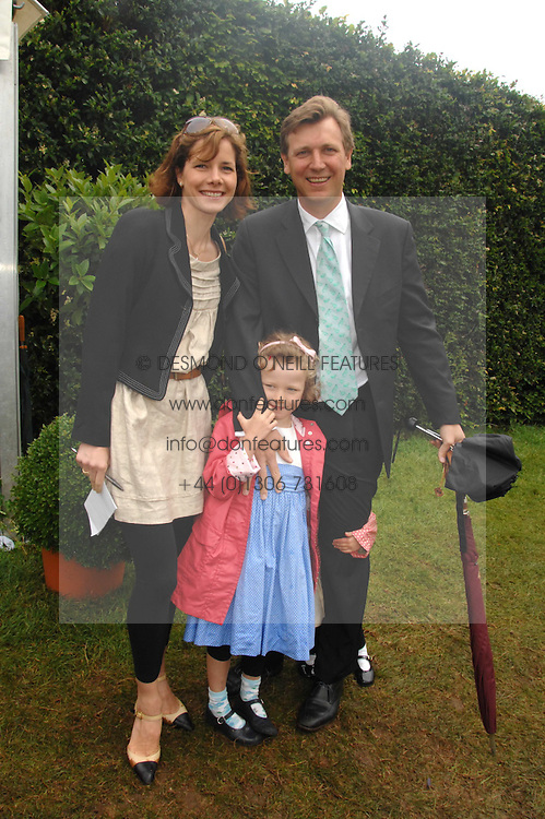 DARCEY BUSSELL and her husband ANGUS FORBES with their eldest daughter PHOEBE at the Cartier Style Et Luxe at the Goodwood Festival of Speed, Goodwood House, West Sussex on 24th June 2007.<br /><br />NON EXCLUSIVE - WORLD RIGHTS