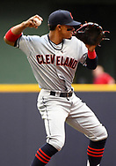 May 8, 2018 - Milwaukee, WI, U.S. - MILWAUKEE, WI - MAY 08: Cleveland Indians Shortstop Francisco Lindor (12) makes a throw during a MLB game between the Milwaukee Brewers and Cleveland Indians on May 8, 2018 at Miller Park in Milwaukee, WI. The Brewers defeated the Indians 3-2.(Photo by Nick Wosika/Icon Sportswire) (Credit Image: © Nick Wosika/Icon SMI via ZUMA Press)