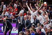 Esultanza panchina Trento, EA7 EMPORIO ARMANI OLIMPIA MILANO vs DOLOMITI ENERGIA TRENTINO, gara 5 Finale Play off Lega Basket Serie A 2017/2018, Mediolanum Forum, Assago (MI) 13 giugno 2018 - FOTO: Bertani/Ciamillo