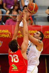 15.08.2010, Logroo, ESP, Friendly Basketball LS, Spain vs Argentia, im Bild Argentina's Juan Pedro Gutierrez (r) and Spain's Marc Gasol during Friendly match. EXPA Pictures © 2010, PhotoCredit: EXPA/ Alterphotos/ Acero +++++ ATTENTION - OUT OF SPAIN +++++