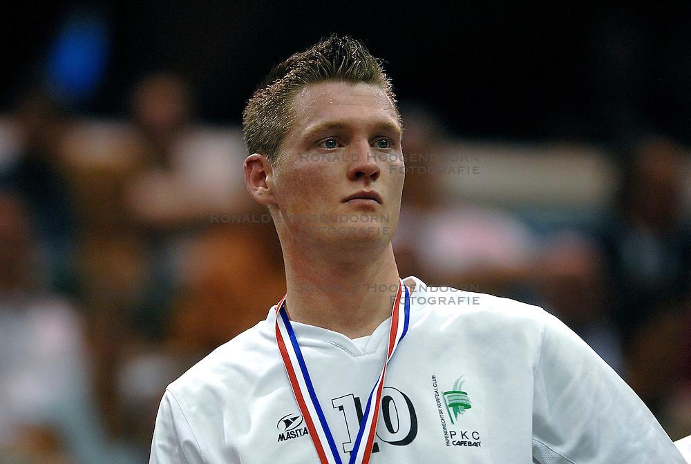 14-04-2007 KORFBAL: DOS 46 - PKC CAFE BAR: ROTTERDAM<br /> DOS 46 wint Zonnetour.nl Korfbal Leaguefinale 2007 / Wim Scholtmeijer<br /> &copy;2007-WWW.FOTOHOOGENDOORN.NL