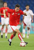 Fussball International Laenderspiel Oesterreich - Venezuela  Oesterreichs Roland Linz am Ball