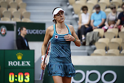 May 27, 2019 - Paris, France - Alizé Cornet during the match between Viktoria Kuzmova and Alizé Cornet at The Roland Garros 2019 French Open, in Paris, France, on May 27, 2019. (Credit Image: © Ibrahim Ezzat/NurPhoto via ZUMA Press)
