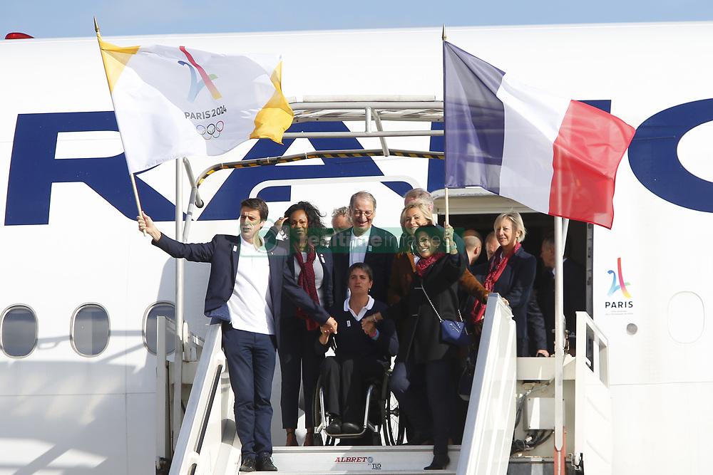 September 15, 2017 - Paris, France, France - Tony Estanguet - Anne Hidalgo - Laura Flessel - Valerie Pecresse (Credit Image: © Panoramic via ZUMA Press)