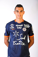 Ellyes Skhiri during the photocall of Montpellier for new season of Ligue 1 on September 27th 2016 in Montpellier<br /> Photo : Mhsc / Icon Sport