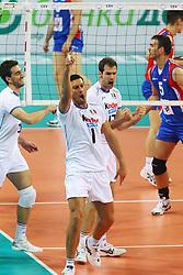 MASTRANGELO ESULTA.ITALIA - SERBIA.PALLAVOLO TORNEO QUALIFICAZIONE OLIMPICA VOLLEY 2012.SOFIA (BULGARIA) 12-05-2012.FOTO GALBIATI - RUBIN