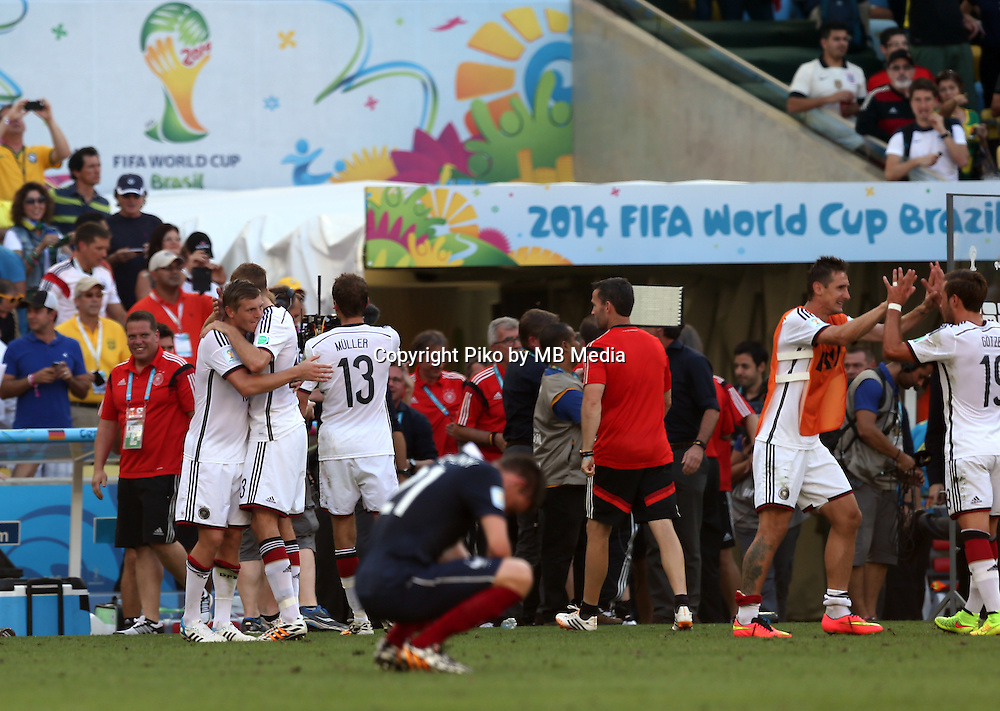 Fifa Soccer World Cup - Brazil 2014 - <br /> FRANCE (FRA) Vs. GERMANY (GER) - Quarter-finals - Estadio do Maracana Rio De Janeiro -- Brazil (BRA) - 04 July 2014 <br /> Here German team celebrating the victory. End of the match 0-1. <br /> &copy; PikoPress