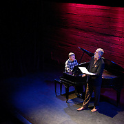 January 14, 2012 - Brooklyn, NY : .From left, pianist Marc Peloquin and bass-baritone Robert Osborne perform the work of Charles Ives at the Galapagos Art Space in DUMBO, Brooklyn, on Saturday evening..CREDIT: Karsten Moran for The New York Times