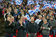 England fans during the UEFA European 2020 Qualifier match between England and Czech Republic at Wembley Stadium, London, England on 22 March 2019.