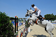 Paris, France : Gregory Wathelet riding Coree during the Longines Paris Eiffel Jumping 2018, on July 5th to 7th, 2018 at the Champ de Mars in Paris, France - Photo Christophe Bricot / ProSportsImages / DPPI
