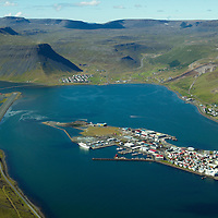 BIIS Isafjordur airport viewing southwest.