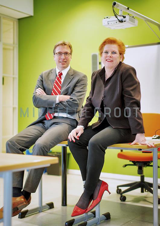 Luc Verburg en Anja van Gorsel van het Zadkine College in Rotterdam