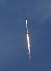 A reused SpaceX Falcon 9 rocket blasts off 4:30p.m Monday, April 2, 2018 from Launch Complex 40 at Cape Canaveral Air Force Station, Florida carrying supplies to be delivered to the International Space Station by a previously flown dragon spacecraft. Photo by Red Huber/Orlando Sentinel/TNS/ABACAPRESS.COM