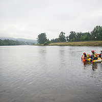 Search Resumes for Missing Teeneager Feared Drowned in the River Tay in Perth.....29.07.13<br /> Firefighters in a boat search the River Tay looking for the 16 year old Polish teenager who got into difficulties last night.<br /> Picture by Graeme Hart.<br /> Copyright Perthshire Picture Agency<br /> Tel: 01738 623350  Mobile: 07990 594431