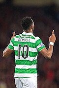 Celtic forward Moussa Dembele (#10) celebrates Celtic's third goal (3-0) scored by Celtic forward Moussa Dembele (#10) during the Scottish Cup final match between Aberdeen and Celtic at Hampden Park, Glasgow, United Kingdom on 27 November 2016. Photo by Craig Doyle.