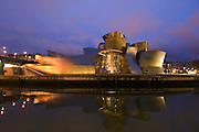 The Guggenheim Museum of modern art, by architect Frank Gehry, Bilbao, Pais Vasco, Spain