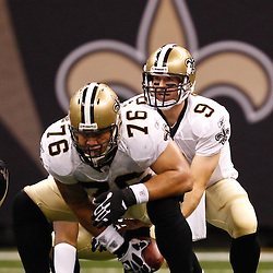 August 27, 2010; New Orleans, LA, USA; New Orleans Saints quarterback Drew Brees (9) under center during the second half of a preseason game at the Louisiana Superdome. The New Orleans Saints defeated the San Diego Chargers 36-21. Mandatory Credit: Derick E. Hingle
