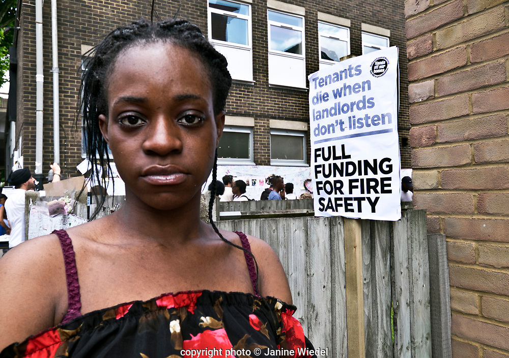 Dami went to school with and knew many of those missing/dead in the fire that destroyed the 24-story Grenfell Tower in North Kensington, London on 14th June 2017.  The death toll officially at 75 but will no doubt rise to three figures.