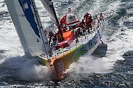 FRANCE, Lorient. 1st July 2012. Volvo Ocean Race, Start Leg 9 Lorient-Galway. Team Sanya.