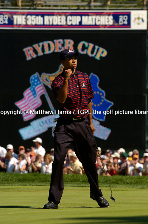 Tiger WOODS (USA) during final day Singles of the Ryder Cup Matches 2004,Oakland Hills (South Course),Bloomfield,Michigan,USA.