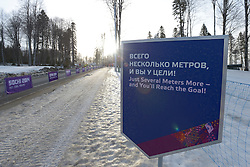 Walking to the Nordic Skiing XC Long Distance at the 2014 Sochi Winter Paralympic Games, Russia