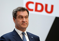 26.05.2019, Konrad Adenauer Haus, Berlin, GER, Europawahl 2019, Wahlabend der CDU, im Bild Dr. Markus Söder // during the Election evening of the CDU on the 2019 European elections at the Konrad Adenauer Haus in Berlin, Germany on 2019/05/26. EXPA Pictures © 2019, PhotoCredit: EXPA/ SM<br /> <br /> *****ATTENTION - OUT of GER*****