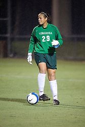 Virginia Cavaliers GK Chantel Jones (29)..The Virginia Cavaliers hosted the Colorado  Buffalos in the first game of the 2007 Nike Soccer Classic held at Klockner Stadium in Charlottesville, VA on August 14, 2007.