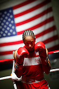6/24/11 2:30:36 PM -- Colorado Springs, CO. -- A portrait of U.S. Olympic lightweight boxer Queen Underwood, 27, of Seattle, Wash. who will be competing for her fifth title. She began boxing in 2003 and was the 2009 Continental Champion and the 2010 USA Boxing National Champion. She is considered a likely favorite to medal at the 2012 Summer Olympics in London as women's boxing makes its debut as an Olympic sport. -- ...Photo by Marc Piscotty, Freelance.