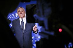 April 17, 2018 - France - President Antonio Tajani at the EU parliament in the eastern French city of Strasbourg. (Credit Image: ©  via ZUMA Wire)