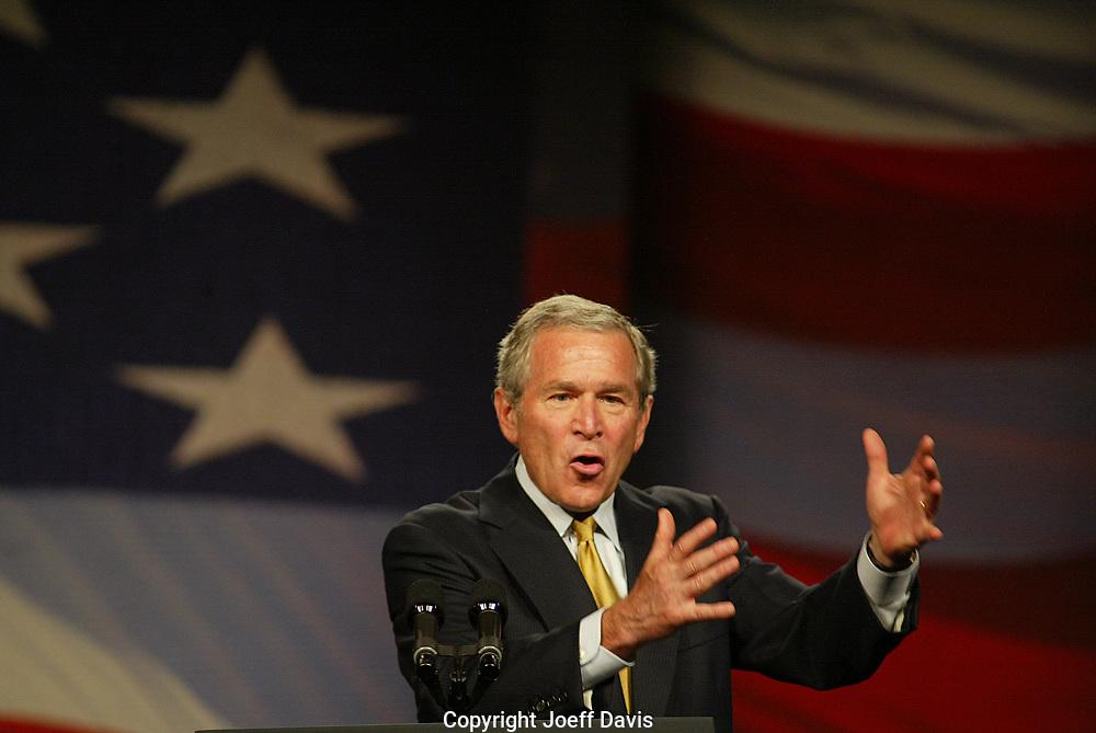 President George W. Bush discusses progress in the Global War on Terror, Cobb Galleria Centre, Atlanta, Georgia, September 7, 2006.