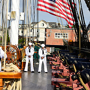 BOSTON -- SEPT 11, 2019 -- <br /> Across the U.S. Navy every year, Chief Petty Officers train 1st Class Petty Officers who have been selected for promotion in a summer-long training program. The Final Week, in the week leading up to the pinning ceremony in mid-September, is filled with important training events. <br /> This year, the Greater New England Chiefs Mess met for their first two days of Final Week training at USS Constitution, at Charlestown Navy Yard in Boston. Greater New England Chiefs Mess is made up of Reserve Chiefs from seven Navy Reserve Operational Support Centers, all within four hours drive of Boston. USS Constitution is the world's oldest commissioned warship.  <br /> U.S. Navy Photo by Chief Mass Communication Specialist Roger S. Duncan