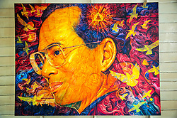 Royal portrait, King Bhumibol Adulyadej the Great, Rama IX, King of Thailand, Bangkok, Thailand, Asia