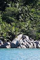 famous and beautiful Praslin island  one of the seychelles island