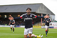 Dundee&rsquo;s Faissal El Bakhtaoui celebrates after opening the scoring - Dundee v St Johnstone in the Ladbrokes Scottish Premiership at Dens Park, Dundee - Photo: David Young, <br /> <br />  - &copy; David Young - www.davidyoungphoto.co.uk - email: davidyoungphoto@gmail.com