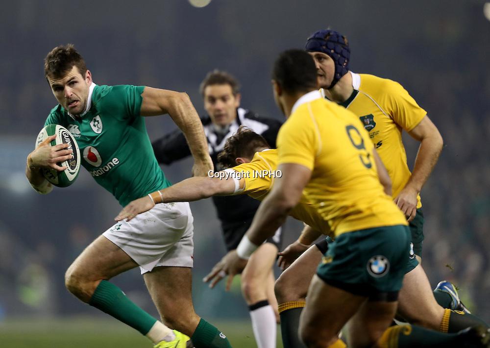 Guinness Series, Aviva Stadium, Dublin 26/11/2016<br /> Ireland vs Australia <br /> Ireland's Jared Payne on the attack <br /> Mandatory Credit &copy;INPHO/Dan Sheridan